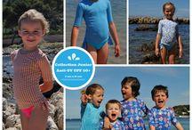 Collection anti-UV junior / T-shirt anti uv , tenu de plage, protection solaire, collection vêtements de plage pour enfants, Maillots de bain
