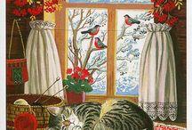 Зима в окне