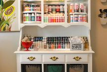 organized crafts supplies