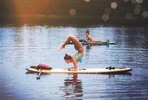 SUP Yoga / SUP Yoga shots on the water