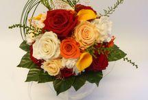 Fleurs pour mariage en rouge et orange / Fleurs pour mariage en rouge et orange