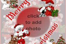 Free Christmas Card Templates / Christmas cards you can add photos to and send for free via email or Facebook, or have printed.