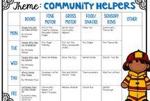 pre-school: community helpers