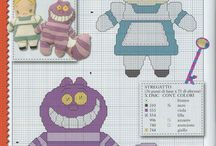 Cheshire cat X-stitch