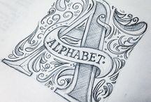 alphabet and tipography