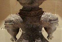 DOGUU (Japanese Ancient Clay Figures, made in Jyomon Era B.C. 16,500 - 3,000)B.C.  ) / by Ei-Ichi Osawa