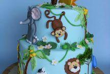 safari dzsungel torta