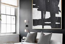 Chic monochrome interiors / Its all black and white keeping it simplefor maximum effect