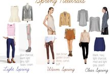 Spring lookbook / Outfit building for spring colours