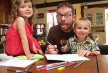 Kids Making Stuff / Our kids like to write, draw, and make stuff.