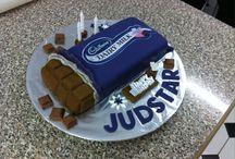 Chocolate block cakes