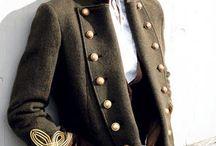 Luxury military coat