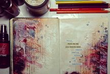 Art journaling, drawing