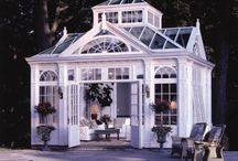 Architecture Gazebo Conservatory  / Gazebos, conservatories, porches, terraces, patios and outdoor spaces. / by Erika Moore