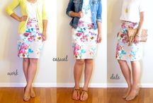 Style // floral pencil skirt