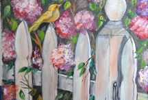 Paintings by Luisa Cassella / Some of the paintings by Luisa Cassella.