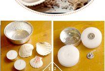 Skjell- og Stein-kunst / Ideer til hva jeg kan bruke skjell og steinsamlingen min til