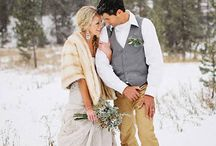 Outdoor winter ceremony