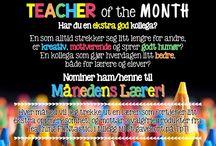 Månedens Lærer / Her kårer jeg hver måned en fantastisk lærer som er blitt nominert av sine kollegaer! Hvem som helst kan nominere, og nomineres! Månedens lærer mottar en ekstra oppmerksomhet i form av blant annet produkter fra Teaching FUNtastic og gavekort fra TpT (TeachersPayTeachers)!