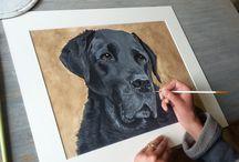 painting labrador