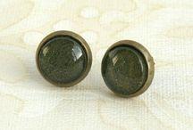 stud earrings / bubble stud dome earrings from Jaded Seas designs www.jadedseas.co.nz