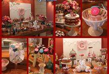 Batizado de Menina / Para comemorar o Batizado da princesinha selecionei algumas ideias! Muita flor, anjinhos, doces, cores, criatividade em um ambiente cheio de amor e delicadeza!!! ♥