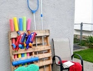 Organization & Storage / Try some of these organization and storage tips to make your pool area tidier year round.