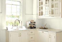 I love small white kitchens! / by Christine