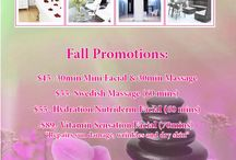 Fall Promotion 2013 / Check out our new Fall Promotions for facials and massages!!!