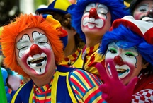 CLOWNS ... time for some fun / There is a clown inside of all people, some are buried a little deeper then others. I really want to do this, but it will take some studying. (not all sites posted are from clowns sites. But I am studying clown faces and dress.)
