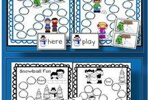 Winter Themed Classroom Activities / Find Winter Themed activities, songs and worksheets for Kindergarten and 1st grade classrooms.