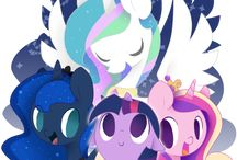 little pony and girls equestria