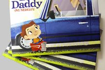 Just Like Daddy / A fun picture book exploring the experiences of a young boy and his dad!  See how they go through their very different days with a smile!