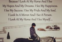 Famous horses, horse people & Inspiring Words