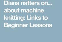 machine knitting beginners