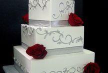 Elegant Wedding Decor Red And White Flowers