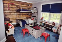 Vintage industrial boys room / Boys room