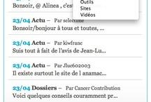 La Plateforme Cancer Contribution / Vues et Fonctionnalités du site... / by Cancercontribution France