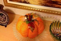 Fabric pumpkins / Handmade fabric pumpkins by me :)