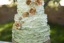 barna-menta esküvői dekor