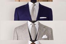 Ízléses színek formák. /  Variálható ingek zsákok nyakkendők.
