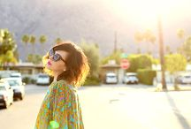 Mood board / Palm Springs inspired sixties shoot with Rachael