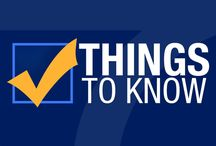 Things to Know / Things to Know