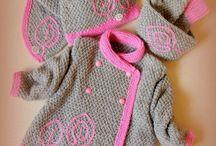 Kötött baba pulover