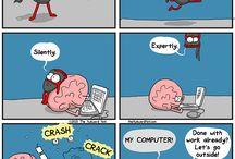 Heart and Brain Cartoons