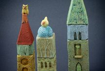 Ceramic Towers and Houses / I am inspired by pottery and ceramic buildings, that have a fairy tale quality.