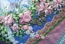Crazy quilt button clusters