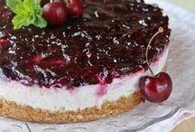 torta di ciliege e ricotta