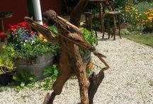 Driftwood Garden Art by HEGG Garden Art / garden art creations