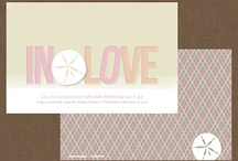Wedding Parties / Fun Wedding colors and ideas with matching save the date.
